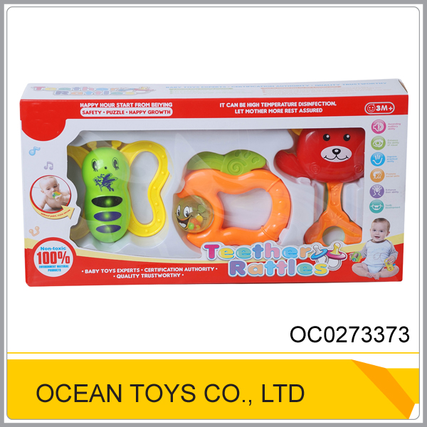 Silicone safety baby teether toy for sale OC0273373