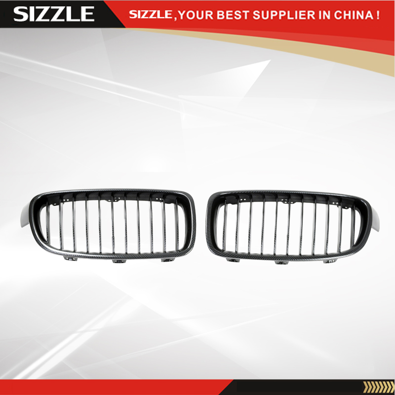 Carbon Fiber Car Kidney Auto Front Grille Hood Air Intake Accessories For BMW 3 Series F35 2011-2014