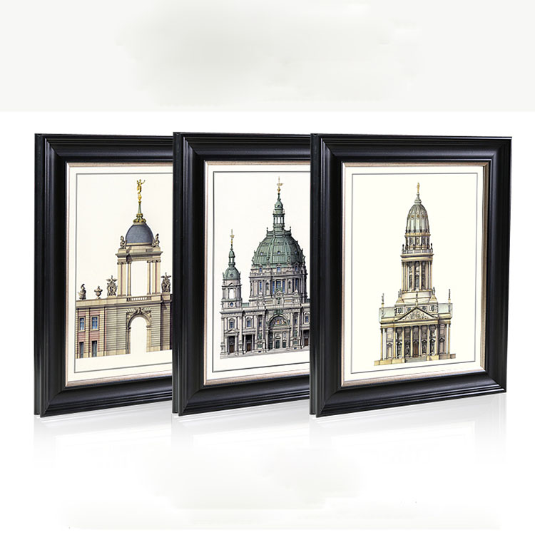 Antique Architecture Black Victorian Contemporary Group Picture Frames