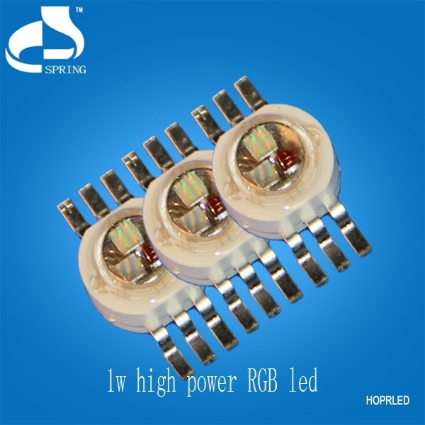 Hot sales 6 pins high power full colour 3w smd rgb led