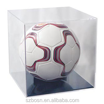 Acrylic Basketball and Soccer Ball Display Case/ Transparent Plexiglass Box For Sports Ball