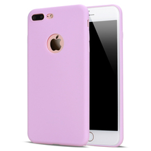 In Full Stock ! Candy Color TPU Silicon Cover for Girls Shockproof Phone Case for iPhone 7