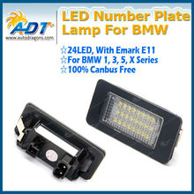 Car led light with CE E-mark auto number plate lamp for BMW 1 3 4 5 Series X1 X3 X5 X6
