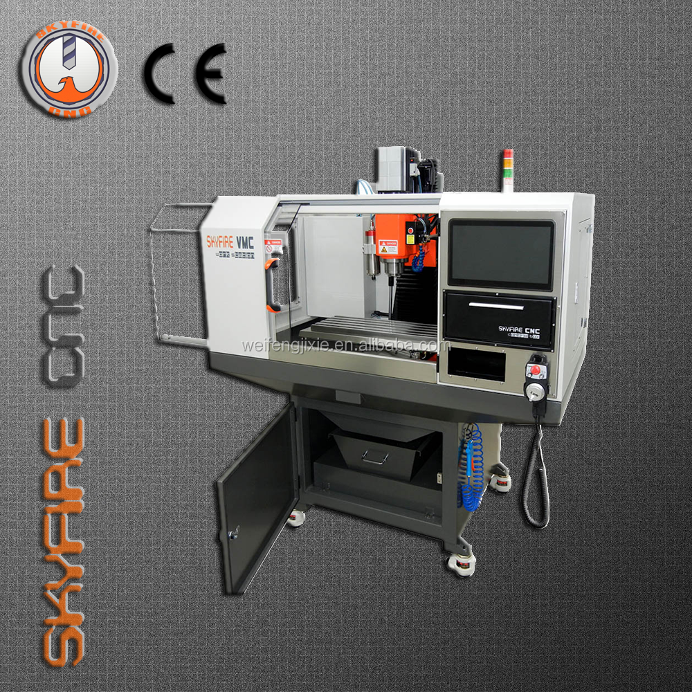 SKYFIRE mold bench top Hot Sale Mini CNC Router 4 Axis CNC Milling Machine with Factory Price-SVM-1VMC Workstation