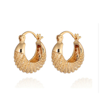 Fashion New 2017 Latest Gold Earring Designs Dubai Gold Jewelry Earring For Women