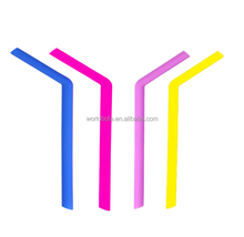 Amazon Food Grade Reusable Drinking Straws Silicone Rubber Straws
