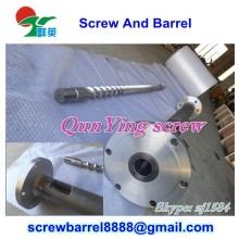 PVC PP PE bimetalllic screw barrel for extruding machine with flange