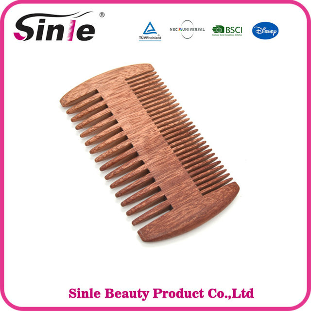 Pocket Wooden Comb Natural Green Sandal double side wooden comb No Static Lice Pet Beard Comb Hair Styling Tool
