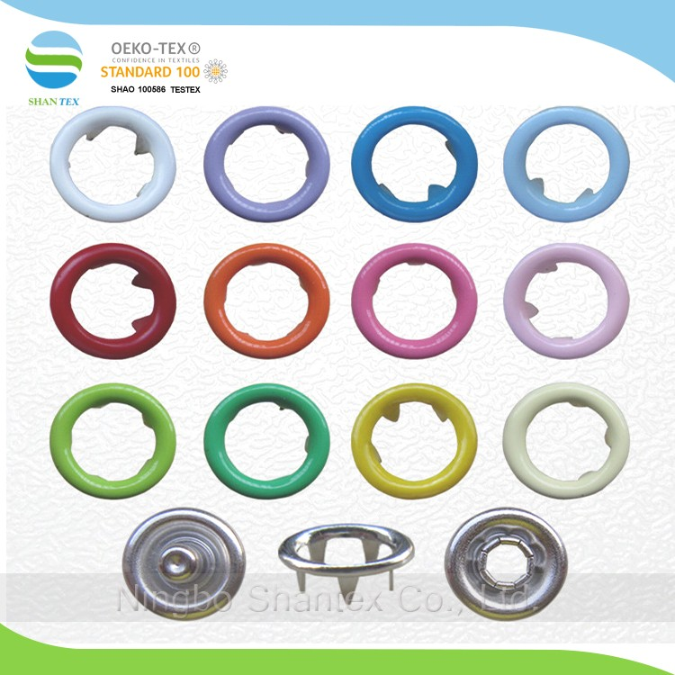 Colorful metal prong snap button