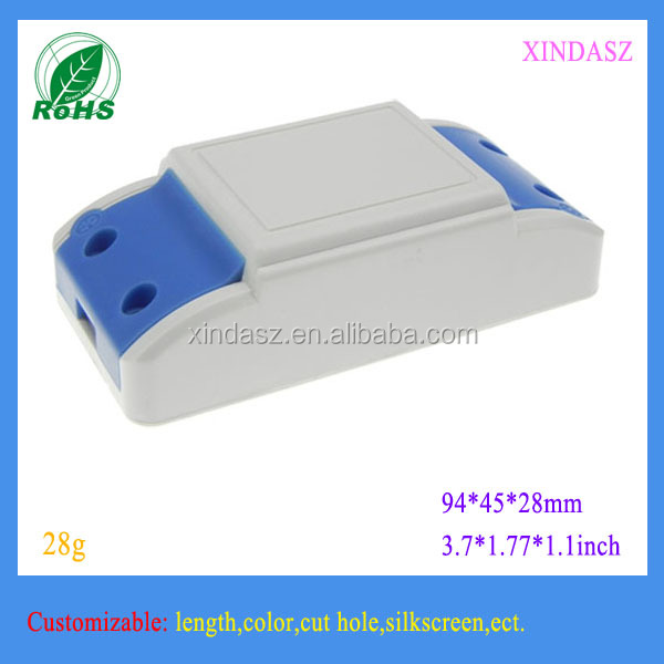LED enclosure plastic junction box 94*45*28mm for led driver enclosure