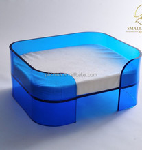 2017 popular sofa model acrylic pet bed for dog /cat animals with cushion