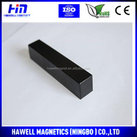 Strong and permanent Rere earth magnets with black epoxy coating