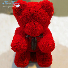 Popular and Premium wholesale preserved heart bear shape roses for gift OEM available