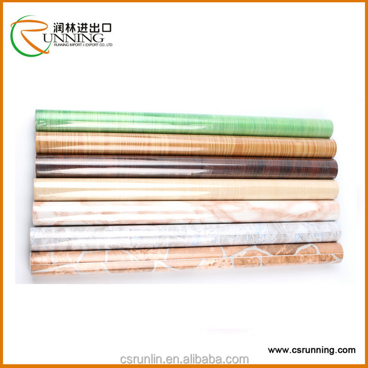 decorative soft touch waterproof wood grain contact paper for floor