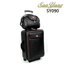 2 In 1 PU Travel Luggage Set Women & Mens Casual Trolley Suitcases Rolling Luggage