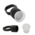 100 PcsTattoo Ink Ring Cup Black Cap Ping With 100 Pcs Pigment Sponge Ring Cup Tattoo Makeup Accessorie