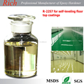 Epoxy hardener R-2257 for self-leveling floor coating with high gloss