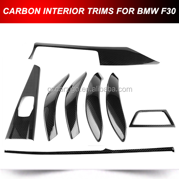 DRY CARBON STICK ON INTERIOR TRIMS 8 PCS KIT FOR BMW F30