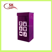 Zhejiang Shukang purple color laundry box with cover for dirty cloth storage made in China
