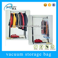 Customized zip lock plastic jumbo hanging vacuum packaging bag
