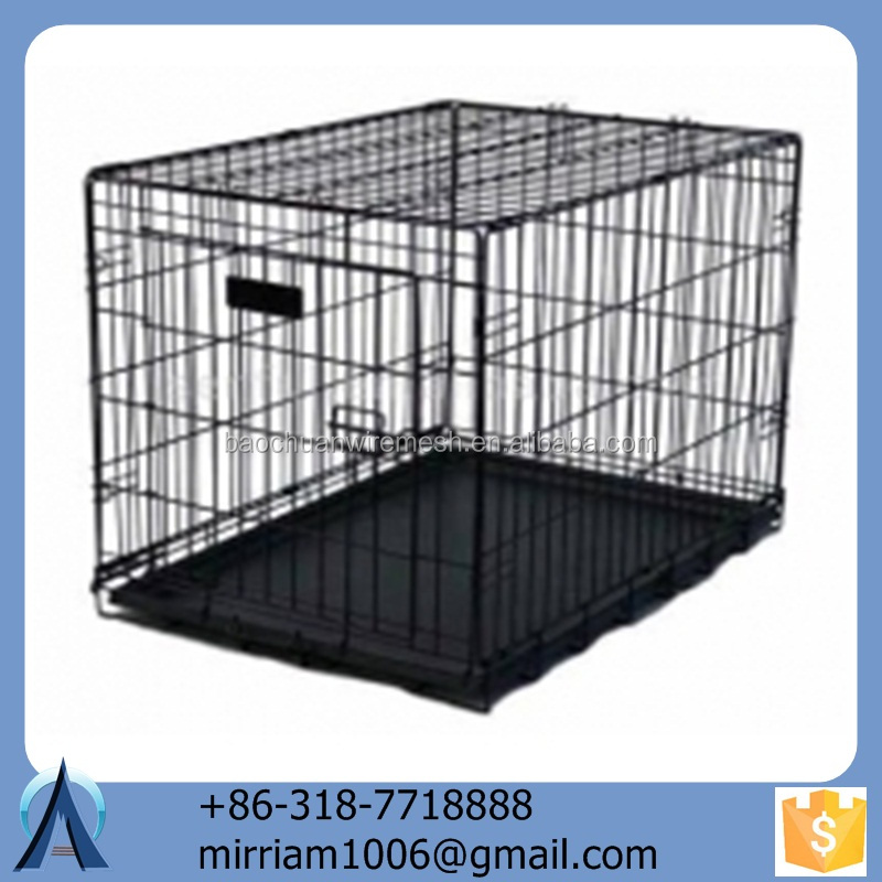 2015 New design design durable and anti-rust powder coating galavized wrought iron large folding outdoor dog kennels
