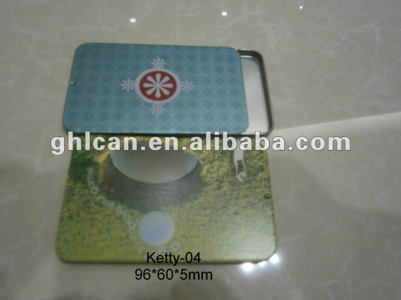 Card tin box, business card tin box, visit card tin box