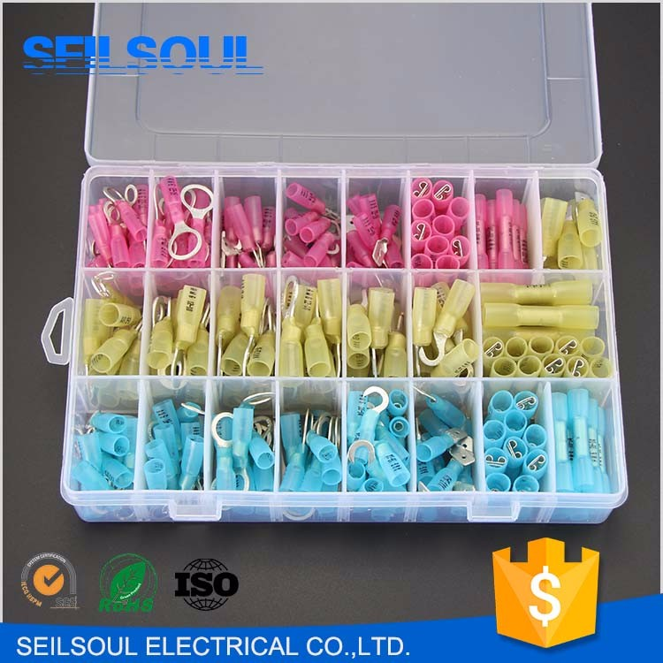 270Pcs Insulated Heat Shrink Terminal Kit Waterproof Wire Connectors Electrical Terminal