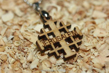 Olive Wood Jerusalem Jewelry Cross