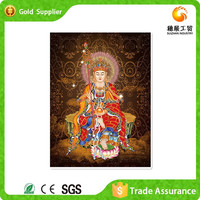 Fast Supplier Embroidery Of Shiny Plastic Stone 3d Modern Art Buddha Abstract Painting