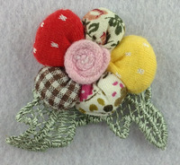 padded applique flower patch