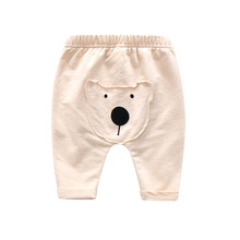 Autumn Kid Clothes Cute Animal Dog Pattern Drop Crotch Harem Pants