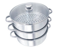 Stainless Steel Steamer Set Glass Lid