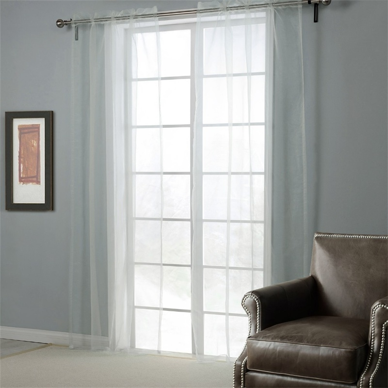 BBJ White Glass Yarn Curtains for Living Room Solid Window Screening Europe Style curtains