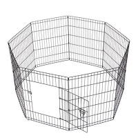 24 Inch Dog Playpen Pet Kennel Pen Exercise Cage Fence 8 Pannels