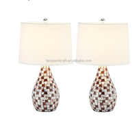 wholesale sea style white groud shape shell table lamp for reading books or simple decoration