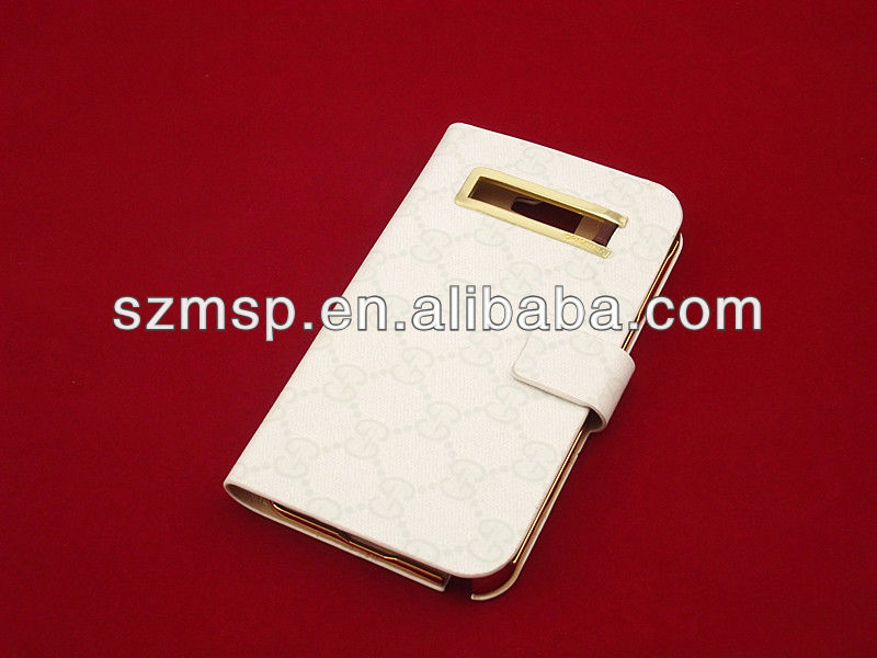For fashion leather mobile phone case
