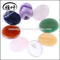 Bulk Wholesale 45x35x7mm assorted semi-precious stone palm stone healing stone