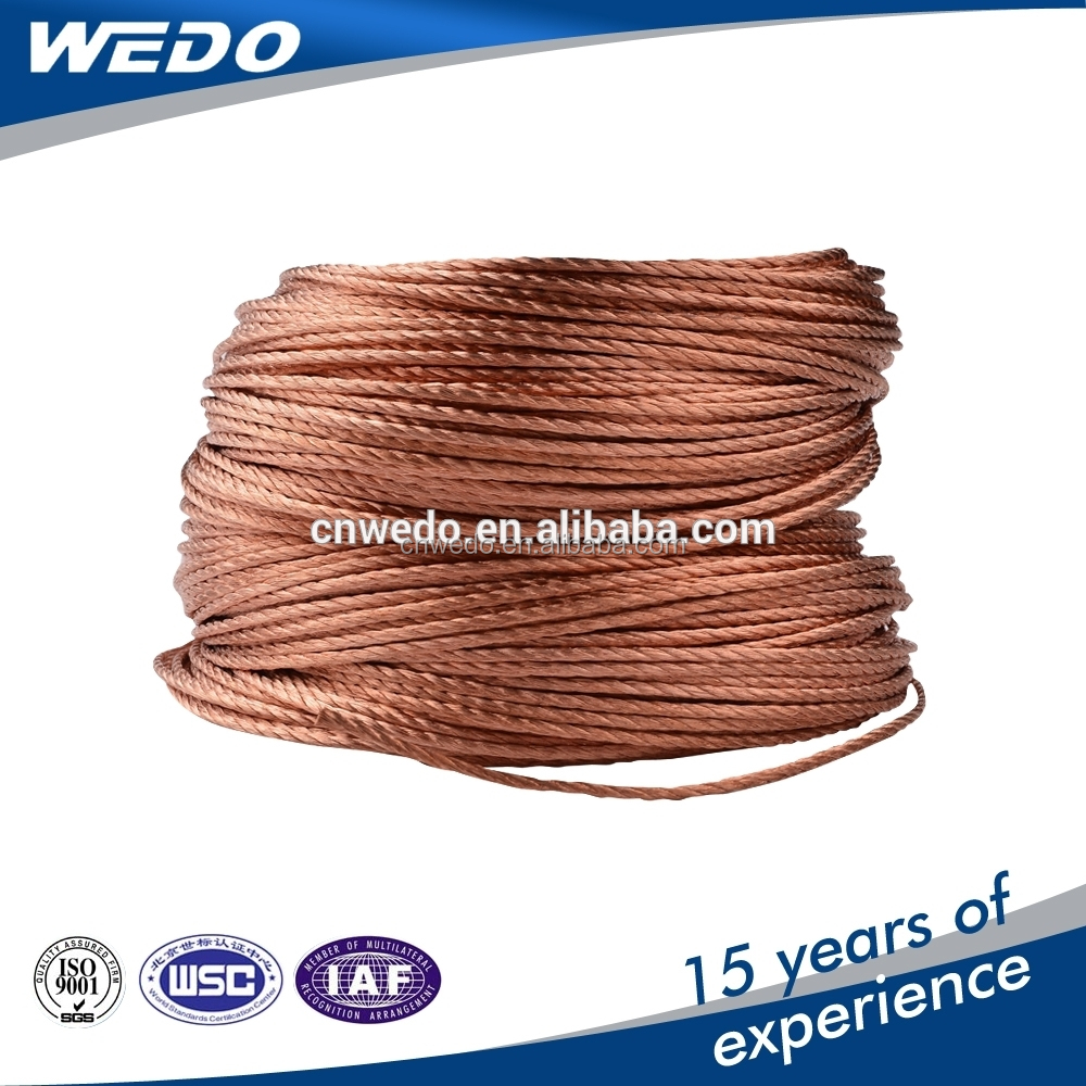 electric power bare copper stranded 1mm cable