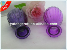 purple glass vase cheap selling