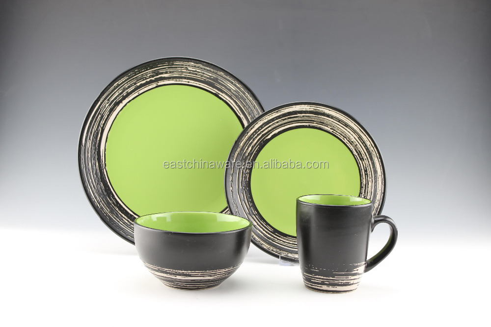 16pc stoneware solid color dinnerware sets, china supplier, household dinnerware