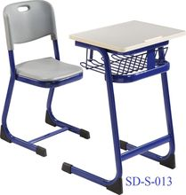 SD-S-013 China Furniture Plastic Cheap Primary School Children Study Classroom Desk And Chair