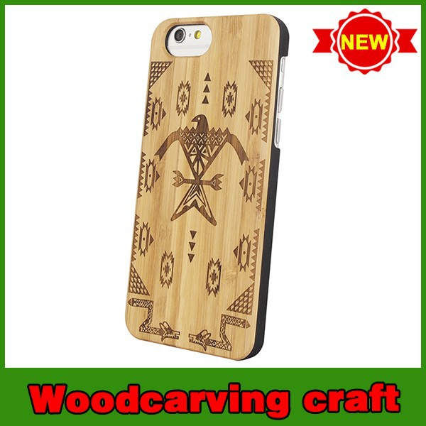 High quality pattern wood cases for iphone 6