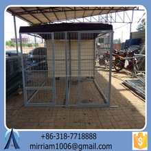 powder coating/galvanized large outdoor dog kennel/pet house/dog cage/run/carrier