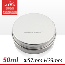 Guangzhou Factory Wholesale empty cosmetic aluminum cosmetic jar Multi Purpose Container - Windowed Aluminium Can - 50ml 57*23