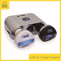 Universal USB Car Charger Adaptor with customized LOGO and battery charging for phone and table