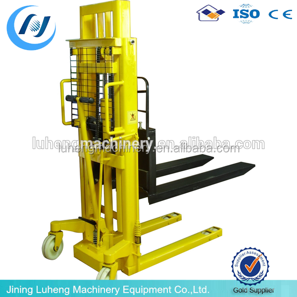 Manual Forklift 1 Ton Hydraulic Hand Stacker, reach stacker manual