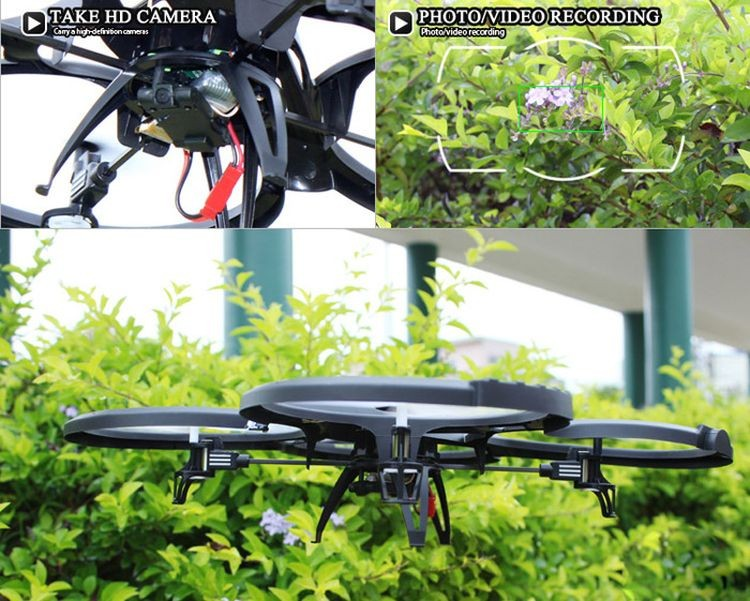 2996036-2.4GHz 4CH RC Quadcopter 6 Axis Gyroscope 360 Degree Stumbling RTF UFO