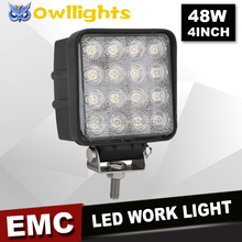 motorcycle accessories Heavy Duty 48w Work Light Flood, 48w Worklight, 48w LED Headlight for tractor parts