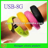 Cheap 8GB silicone usb band