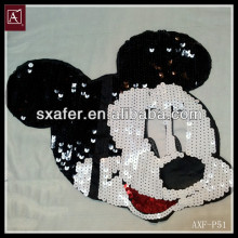 fashion sequin embroidery mouse design patch
